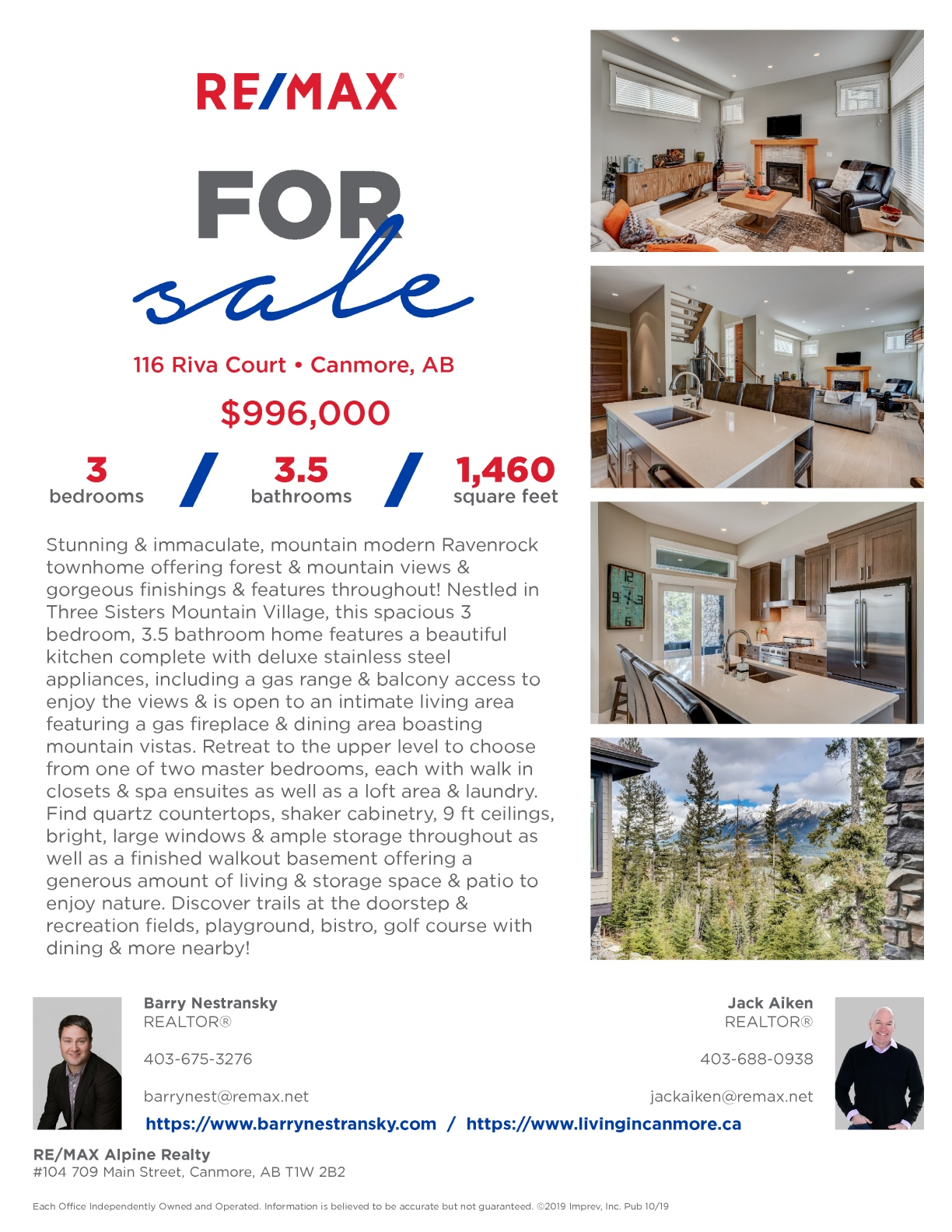 116 Riva Court, Canmore