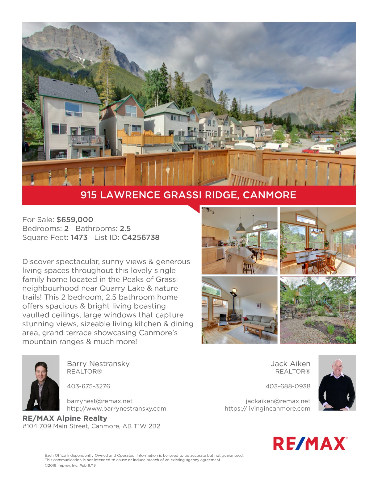915 Lawrence Grassi Ridge, Canmore