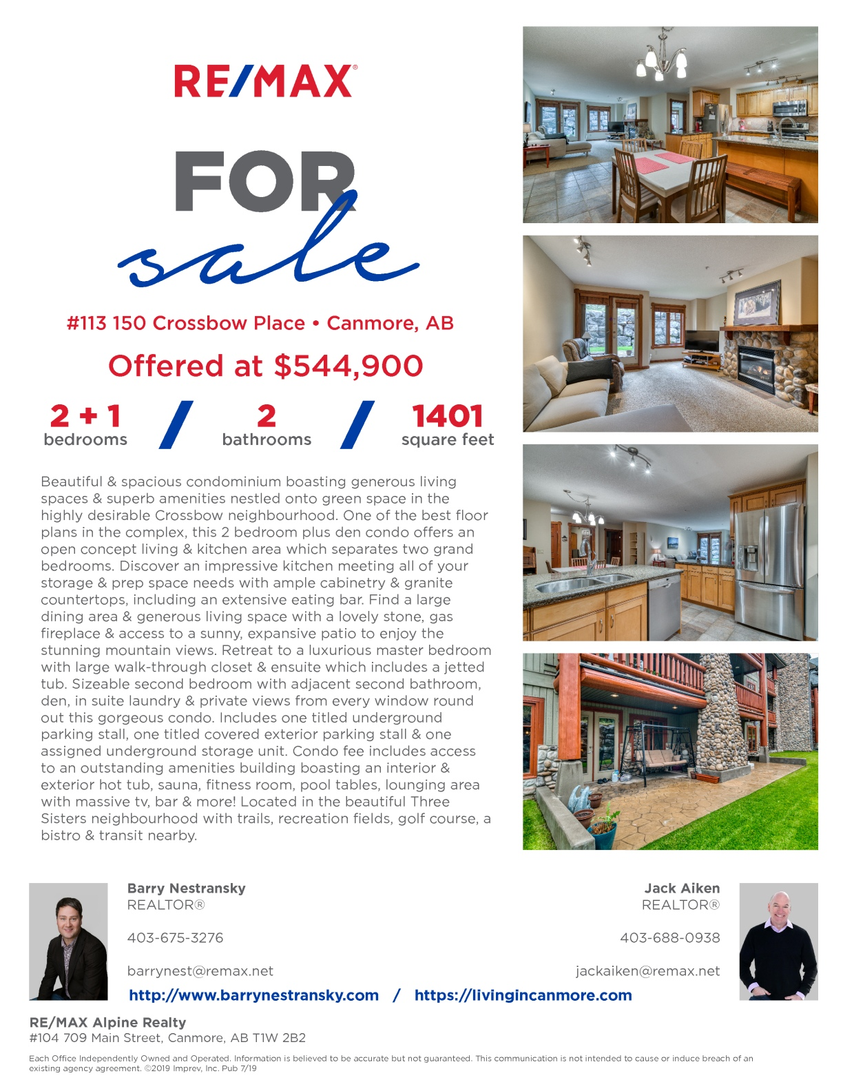 #113 150 Crossbow Place, Canmore