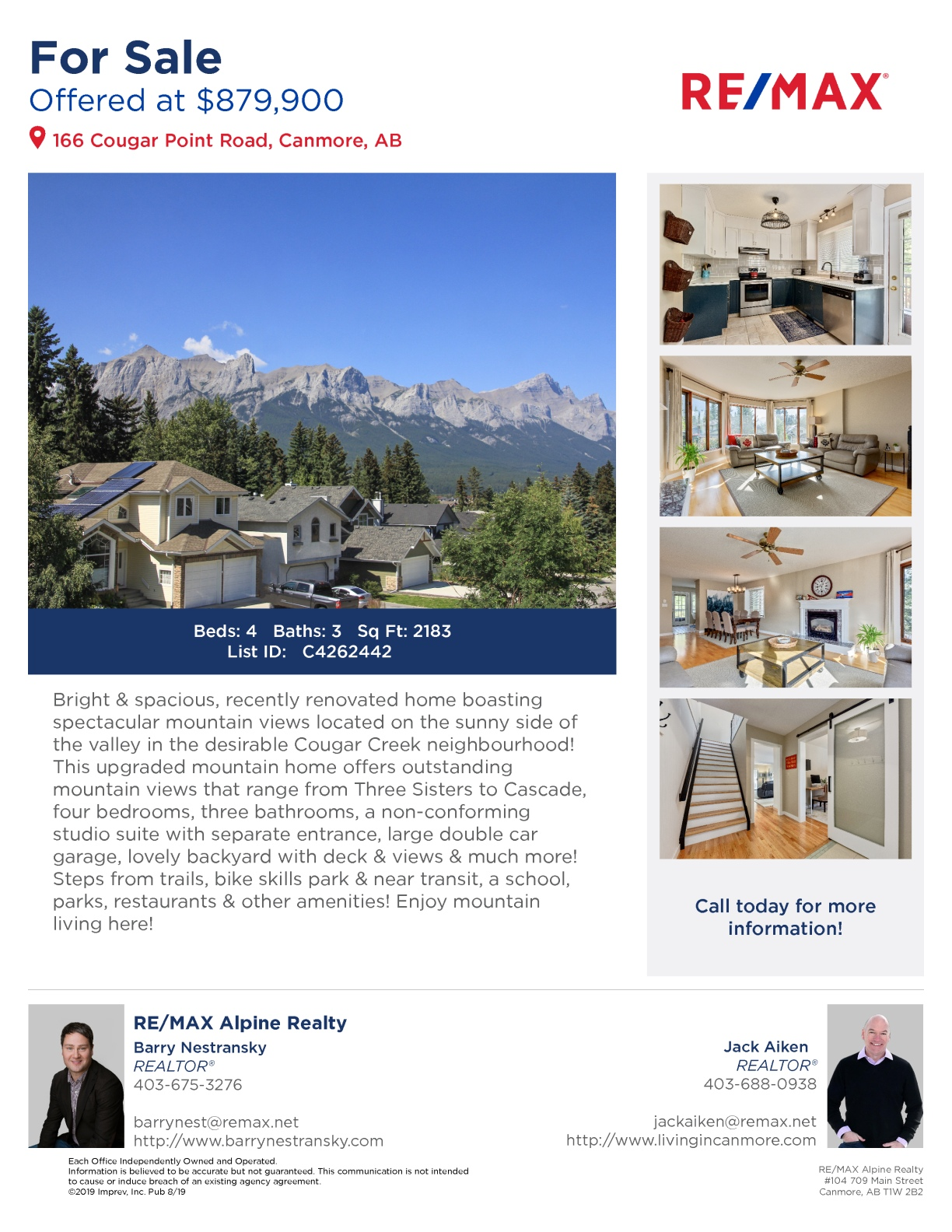 166 Cougar Point Road, Canmore