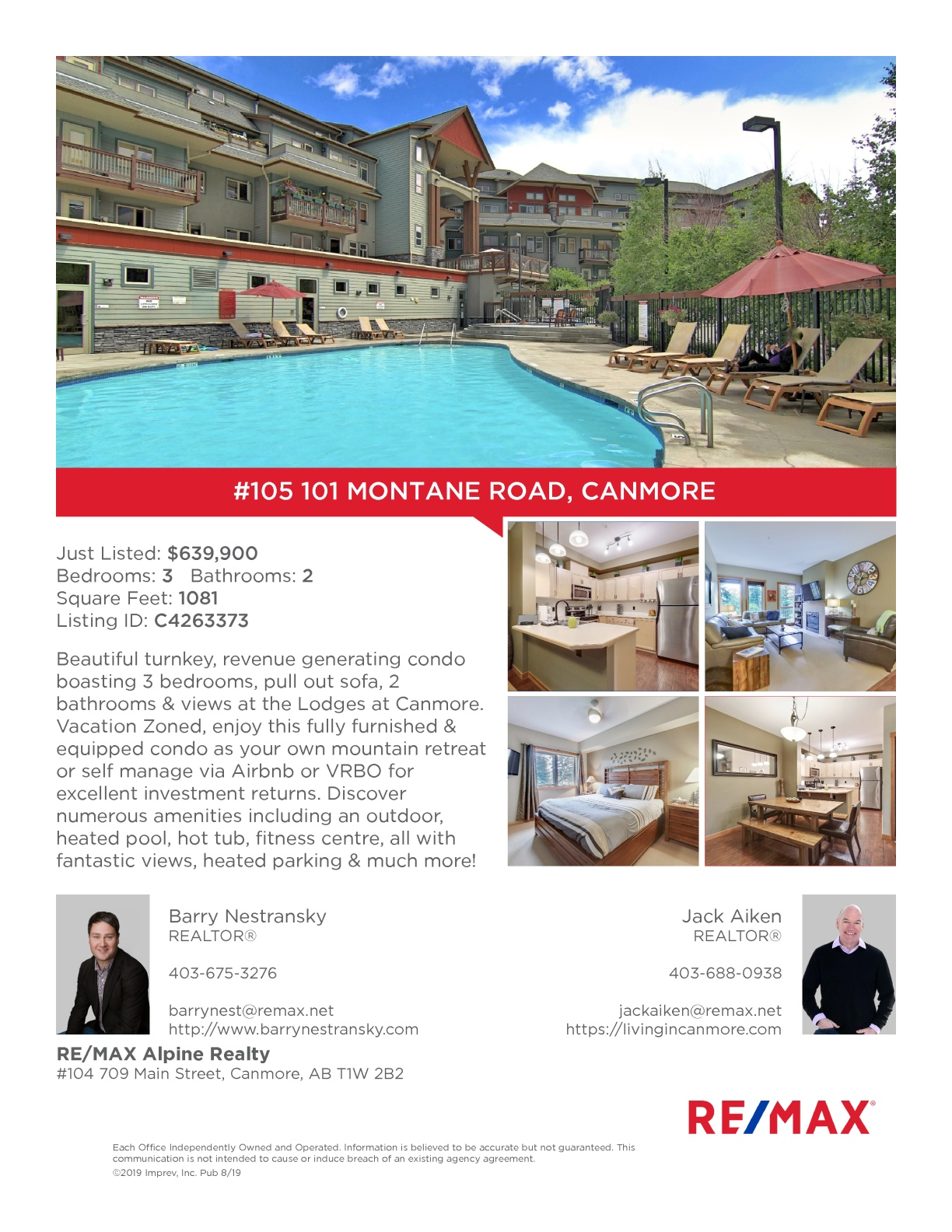 #105 101 Montane Road, Canmore